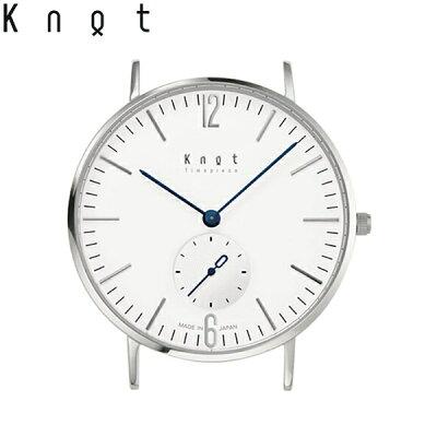 """Knot(ノット)""""クラシックスモールセコンド""""【Makuakeモデル】シルバー&ホワイト時計本体のみ(ベルト別売り)腕時計/メンズ/レディース/サファイアガラス/日本製/MADEINJAPAN/送料無料"""
