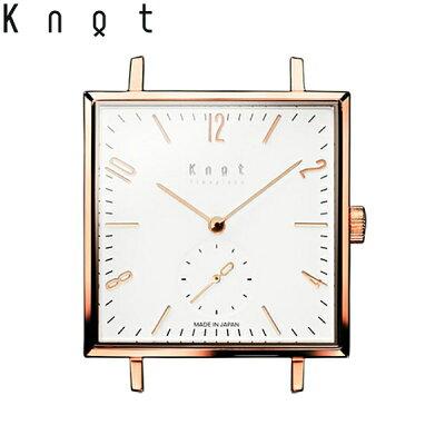 """Knot(ノット)""""クラシック/スクエアスモールセコンド""""ローズゴールド&ホワイト時計本体のみ(ベルト別売り)ウォッチ/メンズ/男性/レディース/女性/サファイアガラス/日本製/腕時計/MADEINJAPAN/おしゃれ/腕時計/送料無料"""
