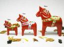 グラナス 北欧 スウェーデン ダーラナホース レッド 10cm サイズ カラフル 雑貨 手作り 職人 シンプル かわいい おしゃれ ほっこり インテリア 可愛い飾り 置物 お土産 玄関 棚 収納 整理 北欧雑貨の写真