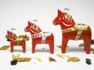 【メール便 不可】スウェーデン伝統民芸品ウッドクラフト「幸せを運ぶ馬」ダーラホース(ダーラ...