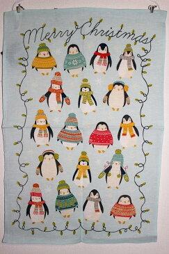 ULSTER WEAVERS アルスターウィーバーズ クリスマス ペンギン キッチンタオル ティータオル かわいい おしゃれ 飾り 衣替え タペストリー キッチンクロス イギリス雑貨