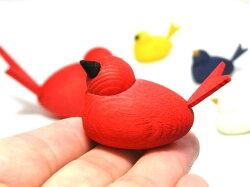 【LarssonsTra】ラッセントレー☆カラフルバード(鳥)のオブジェ親子鳥セット木製置物☆北欧雑貨★【クロネコDM便不可】