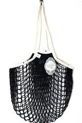 ★フィルトfilt社ネットバッグ(ブラック&ホワイト紐-持ち手Lサイズ)filtネットバッグfiltバッグ見せるバッグfilt社フランス製メッシュショッピングバッグおもちゃ入れバッグ洗濯ネット収納バッグ