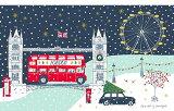 発送は郵便で! ロンドンブリッジ クリスマスシリーズ キッチンタオル コットン キッチンクロス かわいい おしゃれ ティータオル タペストリー デザイナー JESSICA HOGARTH ジェシカホガース イギリス雑貨 お部屋のインテリア