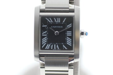 【中古】Cartier カルティエ タンクフランセーズSM/アジア限定 W51026Q3 黒文字盤 クオーツ USED-A レディース 腕時計 m19-1200284925800004