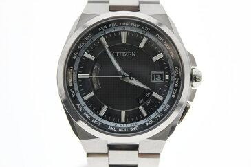 【中古】CITIZEN シチズン アテッサ エコドライブ 電波時計 ソーラー 黒文字盤 USED-SA メンズ 腕時計 m19-1200159925800007