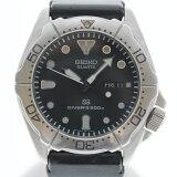 【中古】SEIKO セイコー ダイバーズ 200m レア ウレタンバンド USED-B 腕時計 メンズ クオーツ 黒文字盤 5H26-7A00 m20-1200296925800171