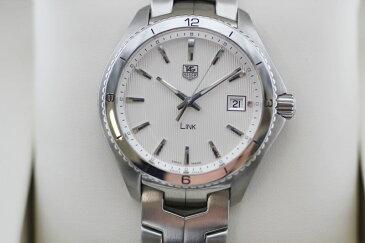 【中古】TAG-HEUER タグホイヤー リンク WAT1111 BA0950  白文字盤 クォーツ USED-S メンズ 腕時計 m19-1200301925800004