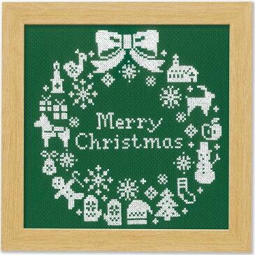 オリムパス クリスマスクロスステッチキット クリスマスリース(グリーン)
