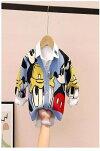 韓国子供服アウターニットカーディガン女の子男の子可愛いミドル丈装柄キッズベビーニットカーディガン赤ブルーミッキードナルド80cm90cm100cm110cm120cm