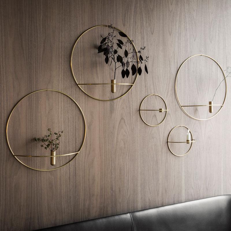MENU 壁掛けフラワーベース POV Circle Vase ブラス