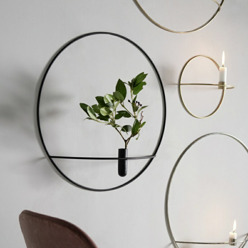 MENU 壁掛けフラワーベース POV Circle Vase ブラック