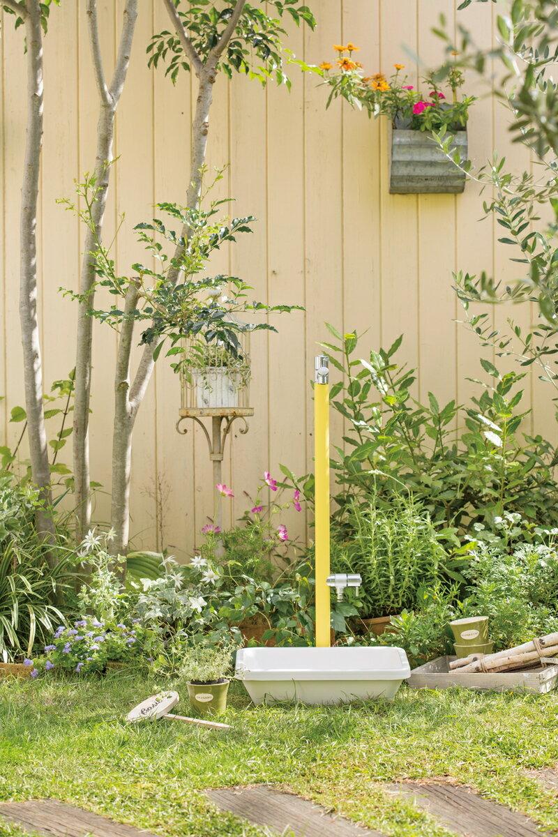 ジラーレ W (補助蛇口付)水栓柱・10色:koba garden.shop