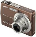 【中古】CASIO デジタルカメラ EXILIM ZOOM EX-Z600 ブラウン