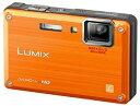 【中古】パナソニック 防水デジタルカメラ LUMIX (ルミックス) FT1 サンライズオレンジ DMC-FT1-D