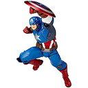 【中古】figure complex AMAZING YAMAGUCHI Captain America キャプテン・アメリカ 約163mm ABS&PVC製 塗装済みアクションフィギュア リボルテック