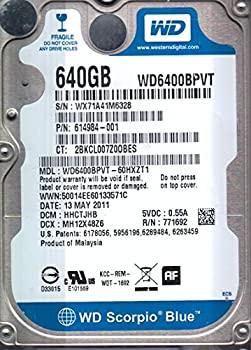 【中古】wd6400bpvt-60hxzt1?Westernデジタル640?GB 5400rpm SATA 3.0?Gbps 2.5インチScorpioハードドライブ