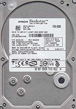 【中古】hds721075kla330、PN 0?a36194、MLC ba2469、Hitachi 750?GB SATA 3.5ハードドライブ