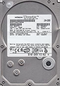 【中古】hua721075kla330、PN 0?a35771、MLC ba2772、Hitachi 750?GB SATA 3.5ハードドライブ