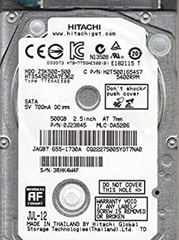 【中古】hts545050?a7e362、PN 0j23845、MLC da5206、Hitachi 500?GB SATA 2.5ハードドライブ