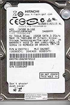 【中古】hts545016b9?a300、PN 0?a57911、MLC da2987、Hitachi 160?GB SATA 2.5ハードドライブ