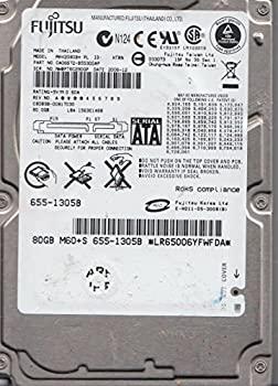 【中古】mhv2080bh PL、PN ca06672-b55300ap、Fujitsu 80?GB SATA 2.5ハードドライブ