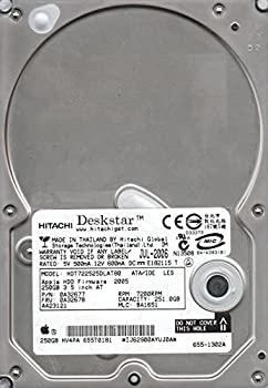 【中古】hdt722525dlat80、PN 0?a32677、MLC ba1651、Hitachi 251?GB IDE 3.5ハードドライブ