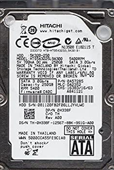 【中古】hts543225l9?a300、PN 0?a57285、MLC da2352、Hitachi 250?GB SATA 2.5ハードドライブ
