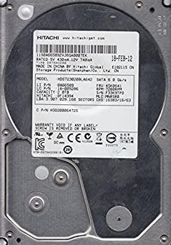 【中古】hds723020bla642、PN 0?F14394、MLC mnr5r0、Hitachi 2tb SATA 3.5ハードドライブ
