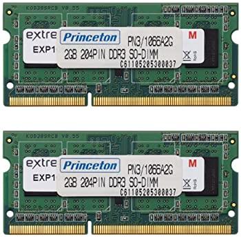 【中古】プリンストン DOS/V ノート用メモリ 4GB(2GBx2枚組) PC3-8500 DDR3-SDRAM (2Gbit/256x8) PDN3/1066-A2GX2