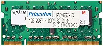 【中古】プリンストン iMac/MacBook Pro対応 PC2-5300 200PIN DDR2 SDRAM 1GB 2枚組み PAN2/667-1GBX2