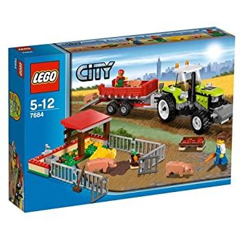 中古 レゴ(LEGO)シティ養豚場とトラクター7684