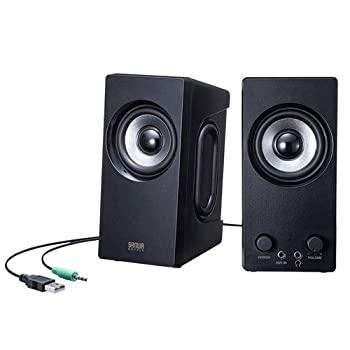 【中古】サンワサプライ アウトレット PCスピーカー USB電源 パッシブラジエーター 高音質 6W出力 ブラック MM-SPL16UBK 箱にキズ、汚れのあるアウトレッ