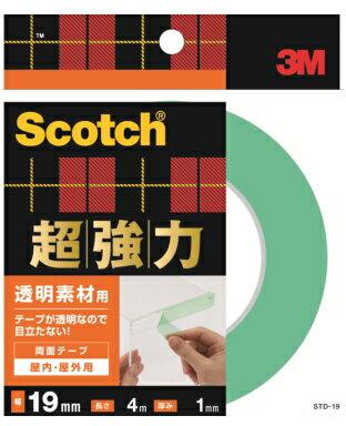 3M(スリーエム) 超強力両面テープ透明素材用 (STD−19) 19×4m小箱10巻入り