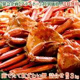 【緊急企画】ステイホーム特別価格!茹でたて紅ずわい蟹 詰め合わせ 総量3kg 紅ズワイ