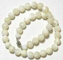 真珠の輝き 直径10mmのマザーオブパールチョーカーネックレス 38cm 40cm ...