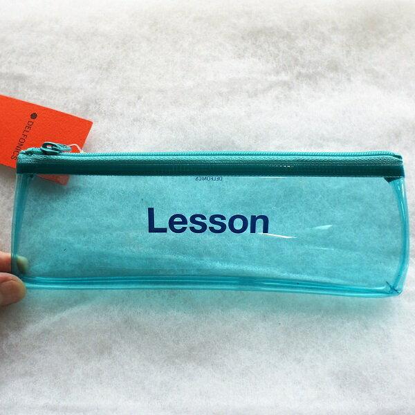 クリアカラーペンケース500134DELFONICSデルフォニックス透明な筆入れ・筆箱・Pencilcase【追跡可能メール便可】