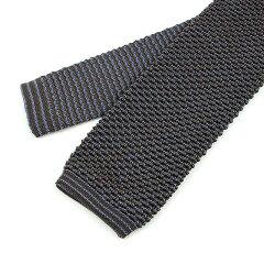 Ascot Silk Knit Tie: Brown / Blue