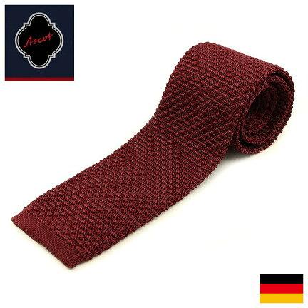Ascot Silk Knit Tie