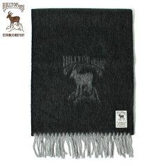 Hilltop Wool Angora Scarf: Black