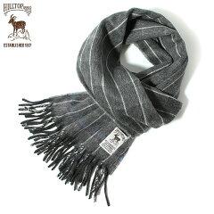 Hilltop Wool Angora Scarf: Grey / White