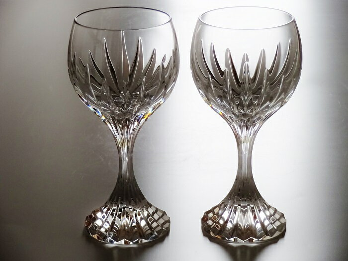 バカラBaccaratグラス マッセナ ワイングラス(L)ペア(・ブランド手提げ紙袋・ブランドリボン掛け付き)