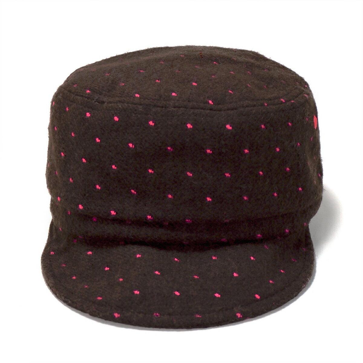 【W/G-】ドットフリース*ワークキャップ【メール便対応】帽子 キッズ 子供