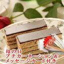神戸スイーツ(バースデーケーキ)で買える「【ポイント10倍】母の日 ギフト 送料無料 オペラ チョコレートケーキ ランキング 神戸スイーツ 2019 プチカーネーション(造花) メッセージカード付 花 セット mother」の画像です。価格は3,500円になります。