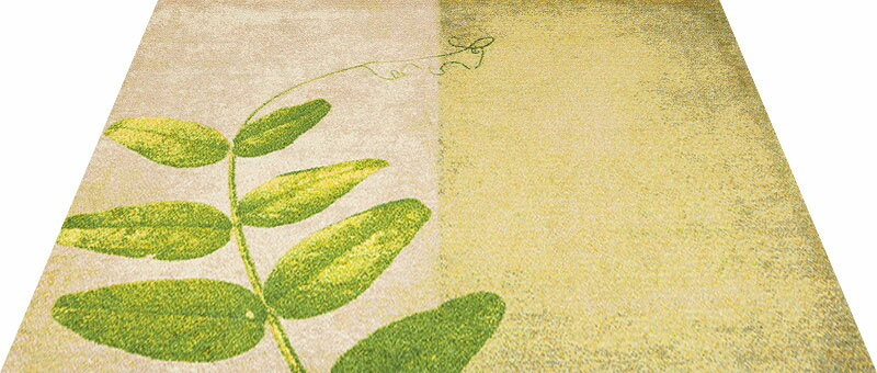Office & Decor Pea  Leaf  _ヒ゜ーリーフ  145  x  200  cm玄関マット 屋内 室内 自然  Office&Decor オフィスマット ナチュラル エレガント 70種類 日本製 洗える グリーン 緑 リーフ:神戸ロングテール