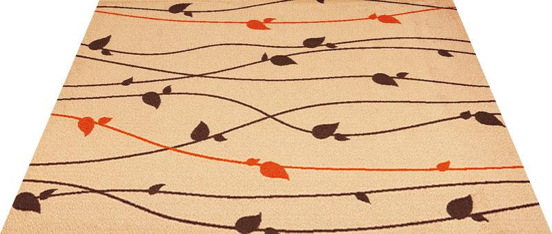 Office & Decor Brun_フ゛ラン 145  x  200  cm玄関マット 屋内 室内 自然  Office&Decor オフィスマット ナチュラル エレガント 70種類 日本製 洗える グリーン 緑 ウッド 木 リーフ:神戸ロングテール