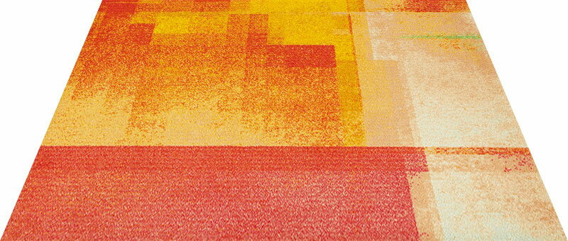 Office & Decor Sunset_サンセット 145 x 200 cm玄関マット 屋内 室内 自然  Office&Decor オフィスマット ナチュラル エレガント 70種類 日本製 洗える グラデーション:神戸ロングテール
