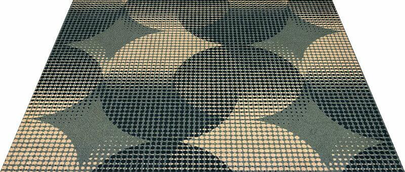 Office & Decor Orbit_オーヒ゛ット145 x 200 cm玄関マット 屋内 室内 自然  Office&Decor オフィスマット ナチュラル エレガント 70種類 日本製 洗える:神戸ロングテール