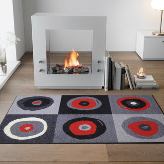 Washable door mat outdoor and indoor use flat-screen wash+dry (wash and dry) Sergej grey 75x120cm