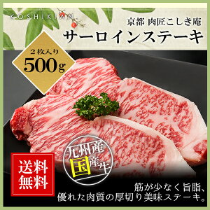 九州産国産牛サーロインステーキ用肉 500g (250g×2枚入り)
